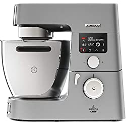 Kenwood KCC9040S Cooking Chef Gourmet Robot de Cuisine, 1500 W, Induction 20–180 °C, Capacité de 6,7 L, 1,6 L Thermoresist Mix Embout de Verre