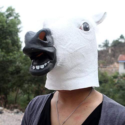 Oyedens Halloween Maske Latex Pferdekopfmaske Schwarz Halloween Party Pferd Latex - Pferd Kostüm Zum Verkauf
