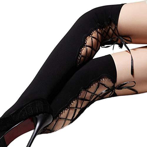 SUZNUO Sexy Frauenstrümpfe Binden Socken über den Knie Socken Party Strumpfhosen Cosplay Lolita