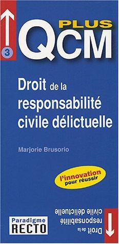 Droit De La Responsabilite Civile Delictuelle Marjorie Brusorio
