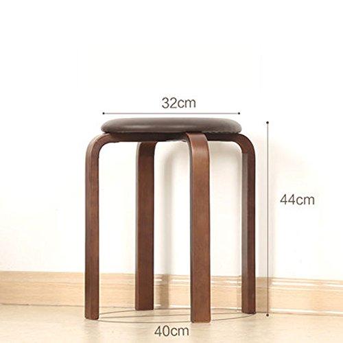 ZhHOME Vierbeinige runde Bank, hölzerner Stummer gepolsterter Tisch und Stühle, für Schlafzimmer Esszimmer, Mehrfarben wahlweise freigestellt (Farbe : D) -