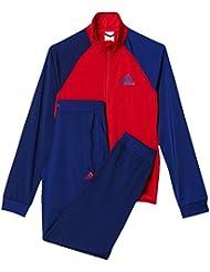 adidas YG S Entry TS, Chándal Para Niñas, Rojo / Azul, 152