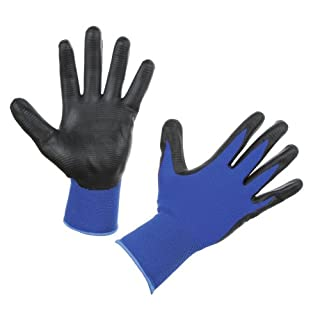 Fine knit gloves Airtec U3Fabric Blue/Black, Size 7