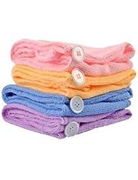 Collectrio Girl's Wet Hair Dry Cap Turban Wrap (Multicolour, Standard Size)