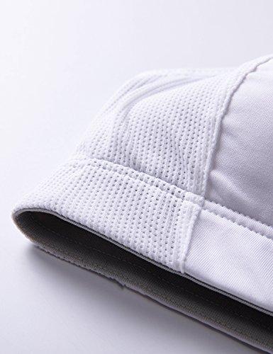 SYROKAN Femme Soutien Gorge de Sport Dos Nageur Sans Armatures Blanc