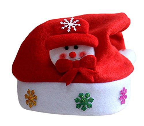 Moolecole Unisex Vater Weihnachtsmützen Weihnachten Sankt-Partei-Hüte Geschenk für Kind (Kostüm Männer Newsboy)