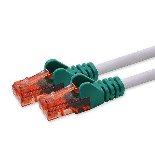 1m - Crossover - 1 Stück CAT 6 Netzwerkkabel Patchkabel 1000 Mbit RJ45 Stecker kompatibel zu CAT5e CAT5 CAT6 CAT7 DSL Internet Router -