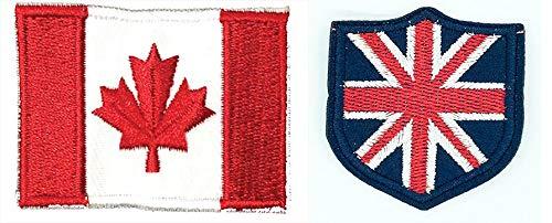 Parches coser planchar bandera Canadá escudo bandera