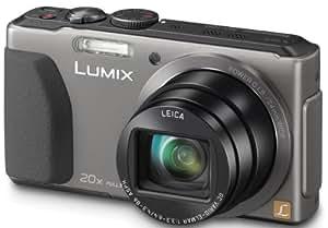 """Panasonic Lumix DMC-TZ40EF-S Appareil photo numérique Taille d'écran 3"""" (7,5 cm) Zoom optique 20x Titane"""