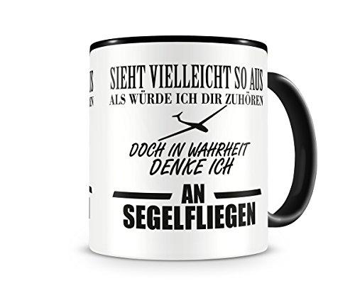 Ich denke an Segelfliegen Tasse Kaffeetasse Teetasse Kaffeepott Kaffeebecher Becher