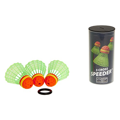 Speedminton CROSS Speeder – 3er Pack Speed Badminton/Crossminton Outdoor Ball inkl. Windring