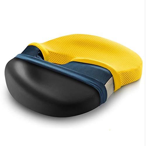 Zmsdt Memory Foam Weiche Sitzkissen Kissen Stuhl Auto Büro Home Boden Sitze Massage Kissen Hohe Qualität (Farbe : Gelb)