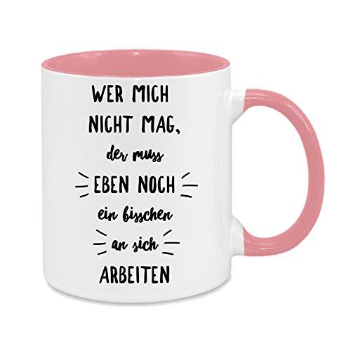 der muss eben noch ein bisschen an sich arbeiten - hochwertiger Keramik-Kaffeebecher - Cups by t? - Kaffeetasse - -Spruchtasse - Tasse mit Spruch - Geschenk (Wer Sich Für Halloween)