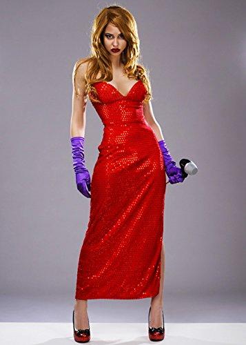 Jessica Rabbit Style Femme Fatale Kostüm S (UK 8-10)