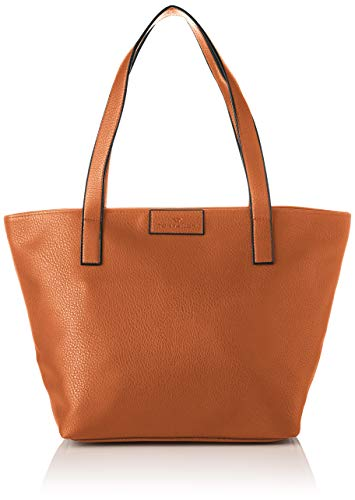 TOM TAILOR Shopper Damen, Miri Zip, Shopper Braun (Cognac), 17.5x28x36 cm,  TOM TAILOR Schultertasche, Handtaschen Damen