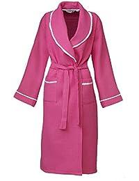 343102018d4a05 i-Smalls Frauen Waffel Morgenmantel Loungewear Bademantel Housecoat mit  lila Augenmaske