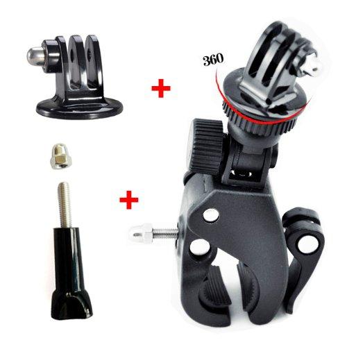 JMT 1 pezzo Fast Clip Release Bike Handbar Monte Dia 17-35mm Bar + Adattatore treppiede + vite lunga con cappuccio per GoPro HERO 3