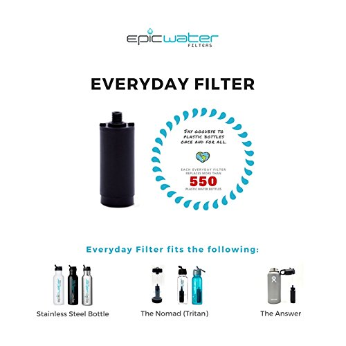412JQm5VjEL. SS500  - Epic Water Filters EVERYDAY REPLACEMENT FILTER for Stainless Steel Bottle, Eco-Tritan Bottle, and The Answer