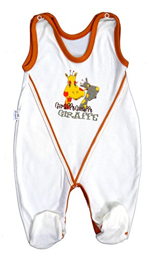 Baby Strampler Erstausstattung Unisex Größe 50-86 (62, Creme-Giraffe)