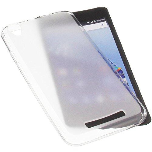 foto-kontor Tasche für Archos Access 55 3G Gummi TPU Schutz Handytasche transparent weiß