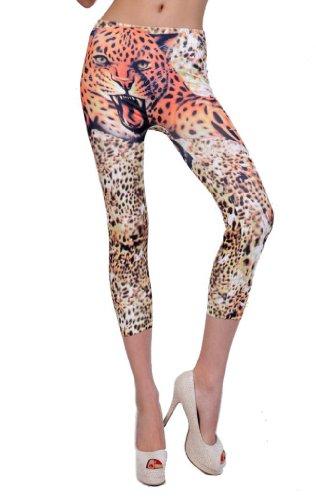 aimerfeel-Footless petite beschnitten Leopardenmuster jeggings Stretch-Leggings/jeggings, Größe (34-40) - Stretch-wochenende