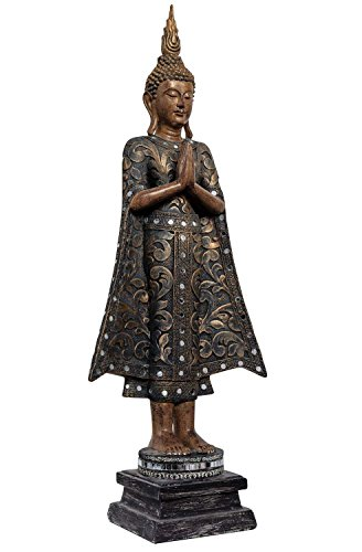 La meditación Buda 72cm oriental escultura figura