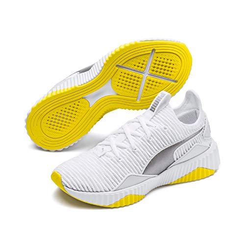 Puma Defy TZ Wn's, Scarpe da Fitness Donna, Verde White-Blazing Yellow, 42 EU