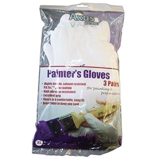 Axus Décor Malerhandschuhe, Handfläche beschichtet mit Maler Handschuhe (Pack von 3)