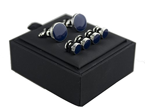 Salutto Men's Cufflinks and Studs Set for Formal French Shirt With Gift Box
