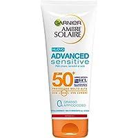 Garnier Ambre Solaire Crema Protezione Solare Advanced Sensitive, Ottima per Pelli Chiare e Sensibili al Sole, Ipoallergenica, IP50+, 200 ml, Confezione da 1