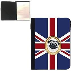 Bloc de notas A5, diseño de perro carlino CBK