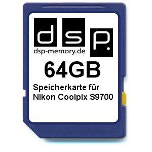 DSP Memory Z-4051557425361 64GB Speicherkarte für Nikon COOLPIX S9700
