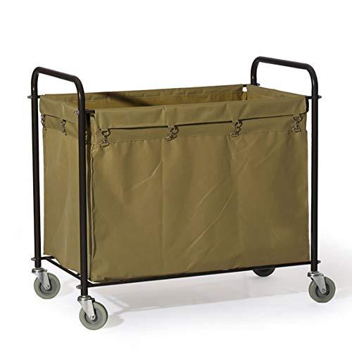 Große Wäschewagen (Khaki Canvas) Heavy Duty - Gewerbe/Industrie/Haushalt/Salon/Waschkorb mit Rollen -