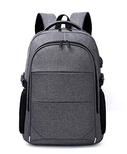 KAKA Herren Laptop Rucksack Casual Nylon Business Travel Daypack (grau)