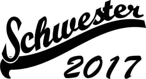 Mister Merchandise Herren Men V-Ausschnitt T-Shirt Schwester 2017 Tee Shirt Neck bedruckt Weiß
