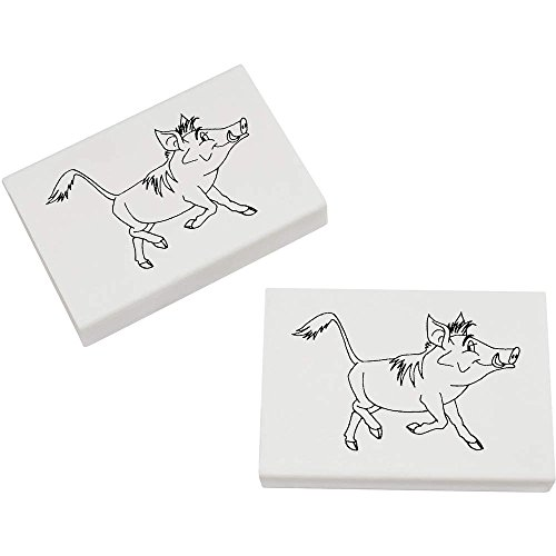 Azeeda 2 x 45mm 'Warzenschwein' Radiergummis (ER00008304) -