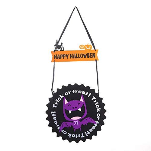 Myspace 2019 Neueste Dekoration für Halloween Dekorationen Fledermaus Geist Kürbisförmige Ornament Filz Stoff (C) (Geist Halloween-masken 2019)