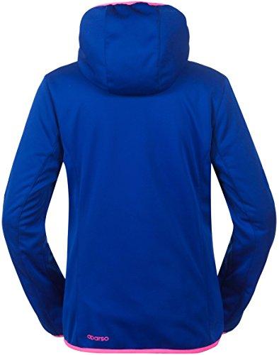 aparso Damen Softshell Funktion Übergangsjacke mit Kapuze und Fleece-Innenfutter (L, Blau) - 2