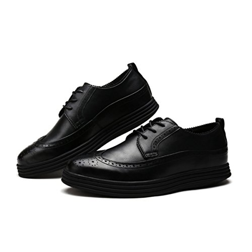 Lyzgf Hommes Chaussures Modèle Printemps Et Automne Mode Casual Dentelle Noir