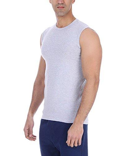 ... Herren Unterhemd mit Roundhalsausschnitt, in 4 Farben und Größen Grey. Solo  Single Lycra Muscle Shirt, Round Neck, Stretch, slim-fit, Herren