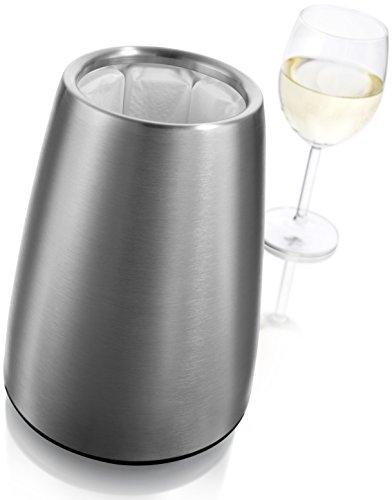 412JXlhkkDL - Vacu Vin - 3649360 - Aktiv Weinkühler Elegant Edelstahl