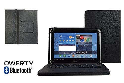 10.1(QWERTY teclado Bluetooth Funda para Tablet/libro Cover para Lenovo Tab 410Plus–10.1', color negro