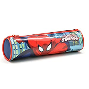 Spiderman Estuche Tela Cilindro Spiderman Estuches, 22 cm, Multicolor