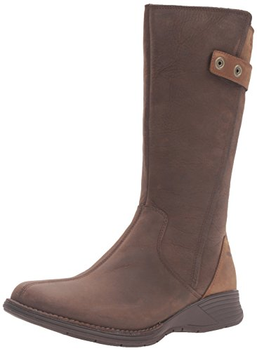 Merrell Travvy Tall Womens Waterproof Calf Length Boots 4 Clay