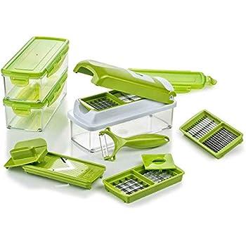 Genius-nicer dicer plus compact légumes schneider de cuisine rabot vert 9 pièces
