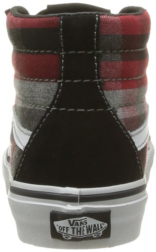 Vans K Sk8-Hi, Baskets mode mixte enfant Noir (Plaid Black/R)