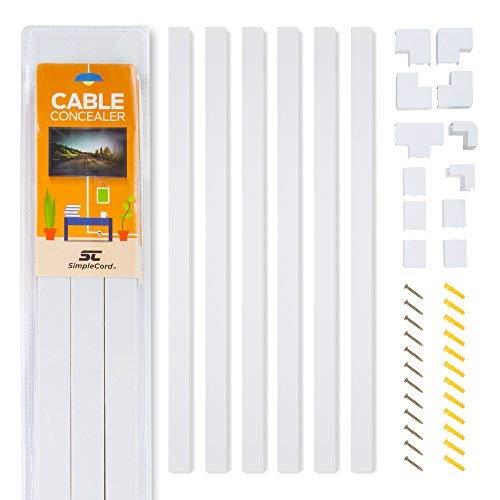 Kit de canaletas largas de pared para ocultar cables - Sistema de...