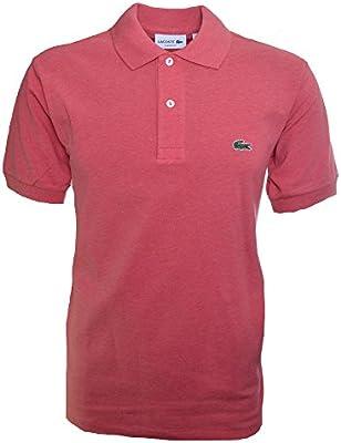 Lacoste Men's Dark Pink Short Sleeve Polo Shirt