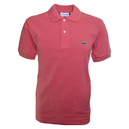 Lacoste Men's Dark Pink Short Sleeve Polo Shirt 3