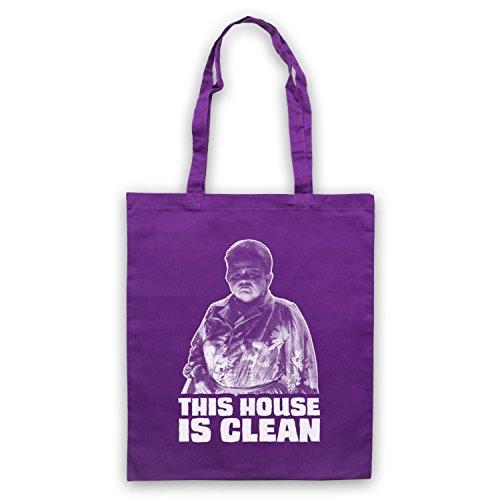 Inspiriert durch Poltergeist This House Is Clean Inoffiziell Umhangetaschen Violett